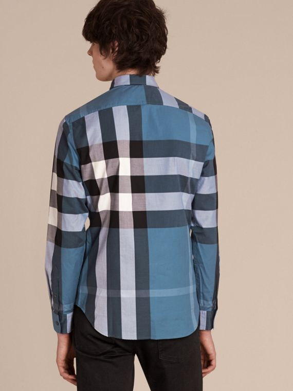 Lupin blue Check Cotton Shirt Lupin Blue - cell image 2