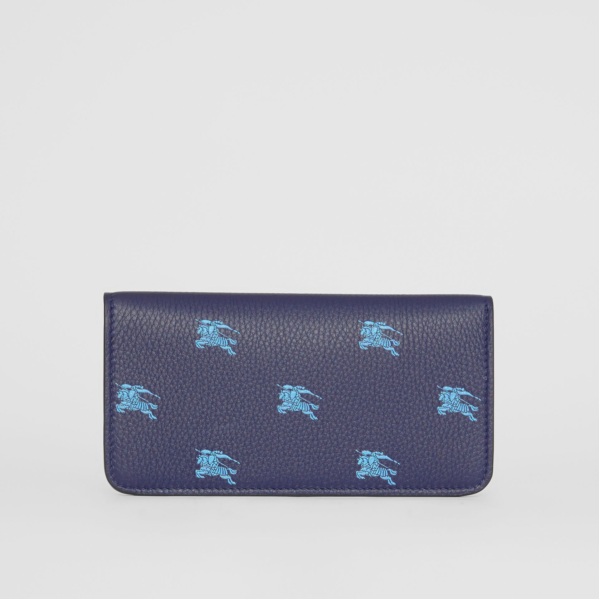 EKD Leather Phone Wallet in Regency Blue - Women | Burberry - gallery image 5