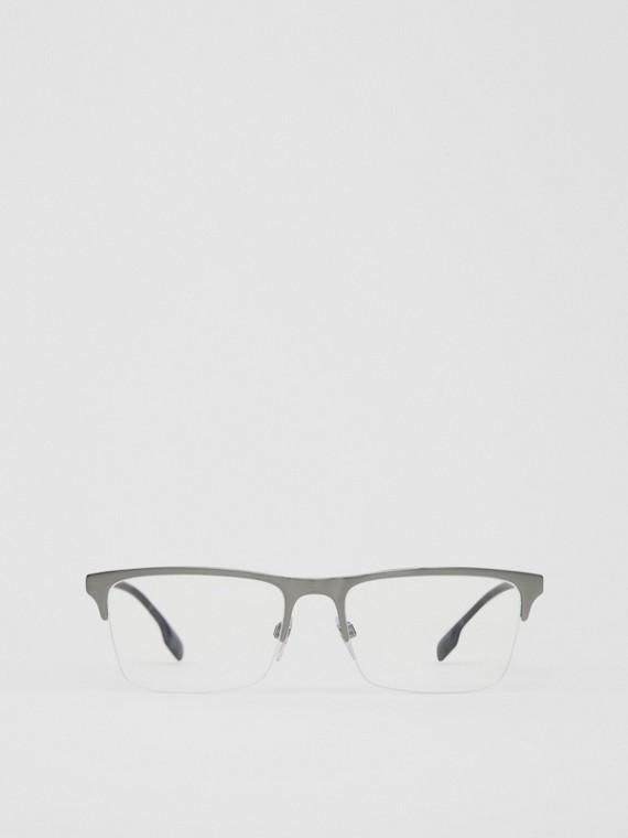 Monture rectangulaire pour lunettes de vue (Gris Plomb)