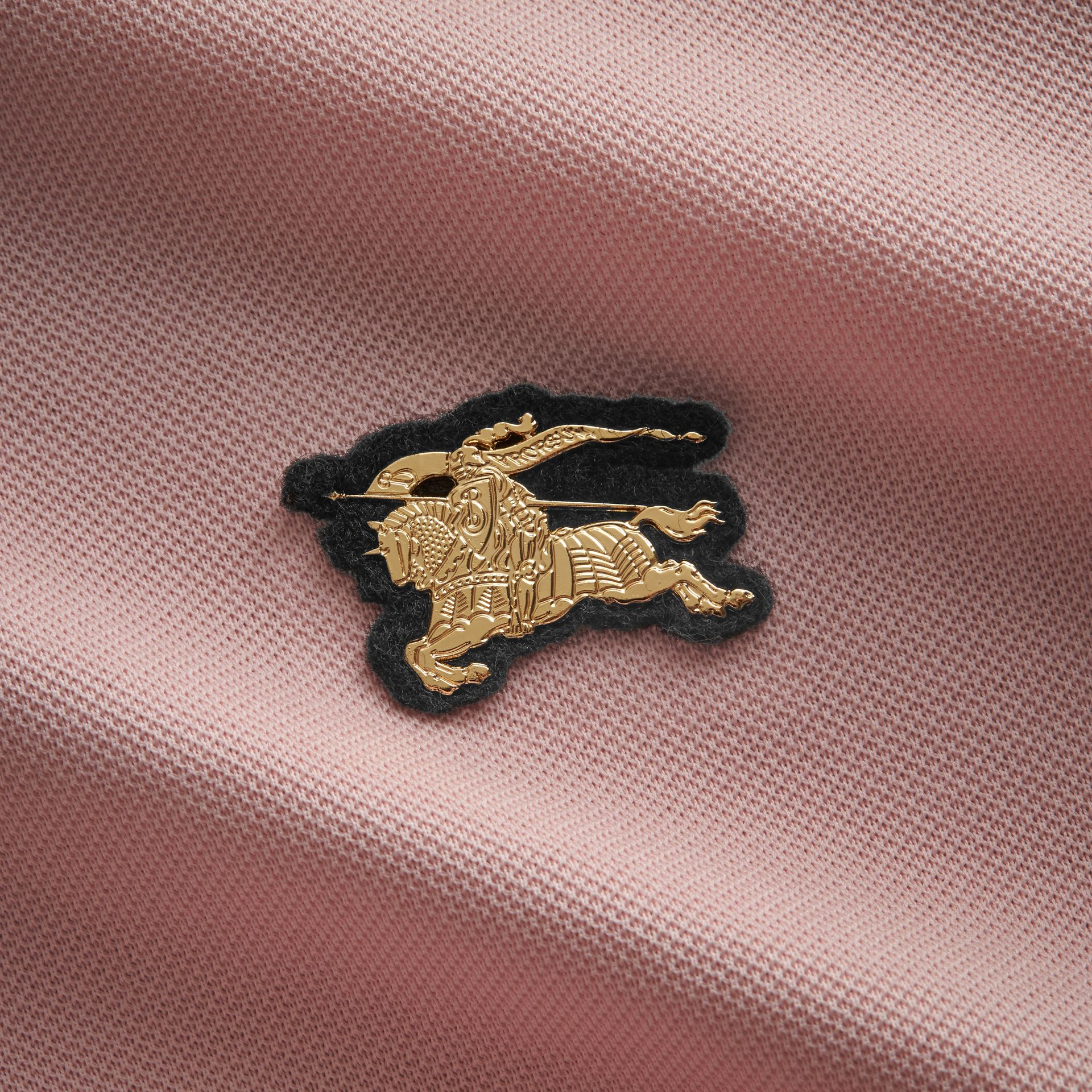 Cotton Piqué Polo Shirt in Chalk Pink - Men | Burberry Canada - gallery image 2