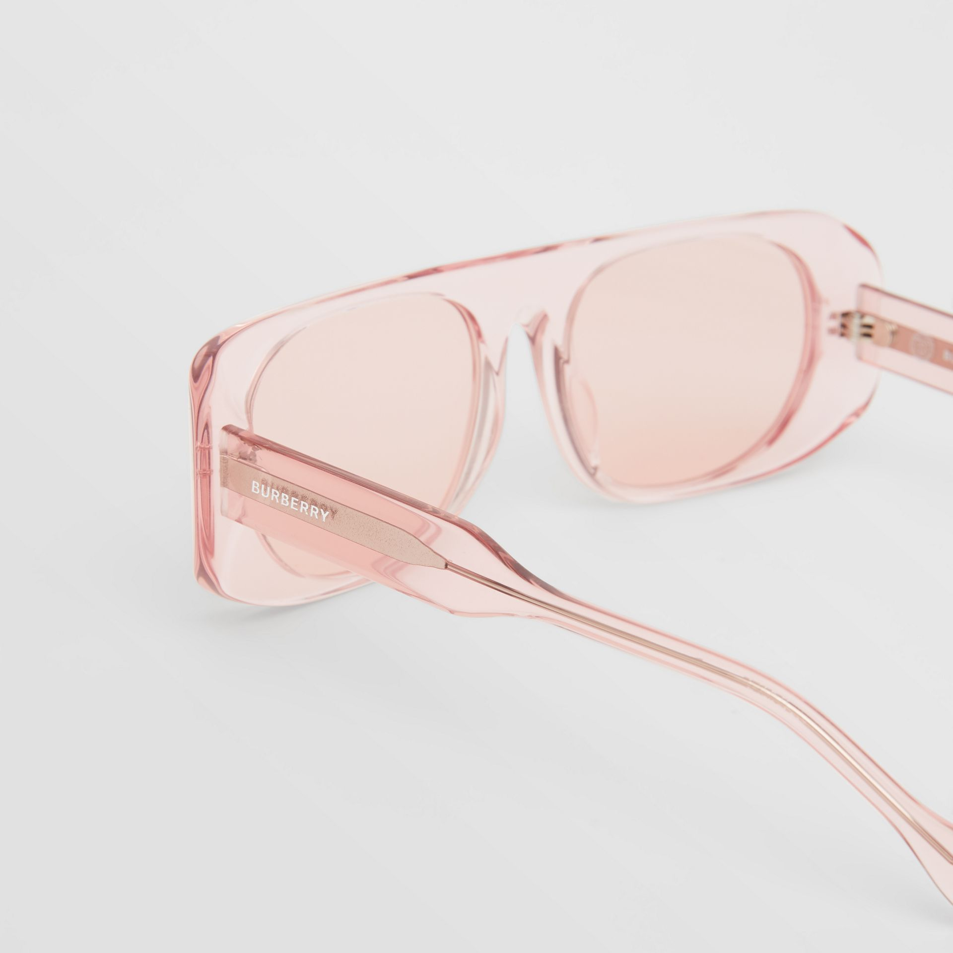 Blake Sunglasses in Transparent Pink | Burberry - gallery image 1