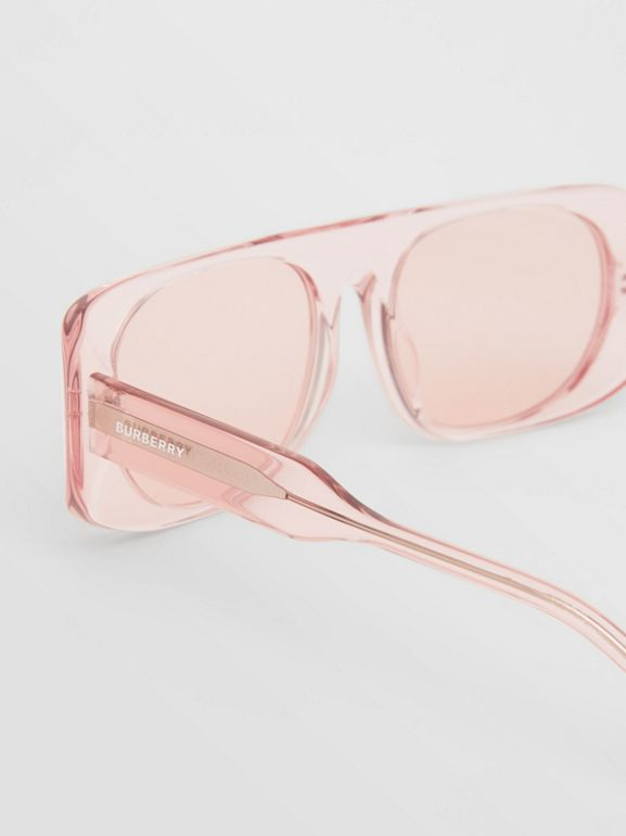 Blake Sunglasses in Transparent Pink | Burberry Australia - cell image 1