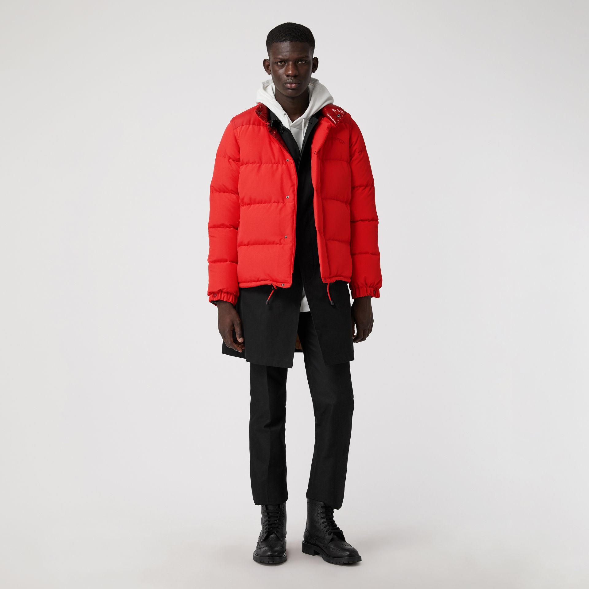 Detachable-sleeve Down-filled Puffer Jacket in Bright Red - Men | Burberry - gallery image 0