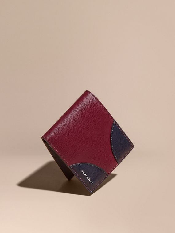 Contrast Corner London Leather Folding Wallet