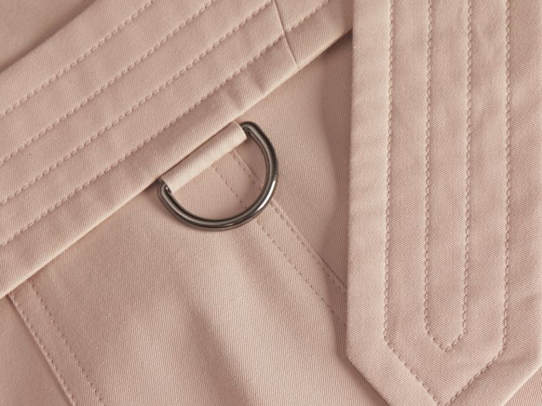 Ice pink Cotton Gabardine Trench Coat - cell image 1