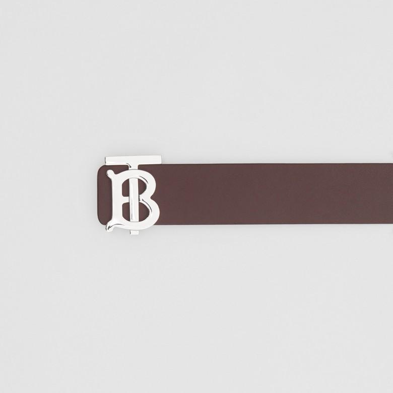 Burberry - Cinturón reversible en piel con monograma - 2