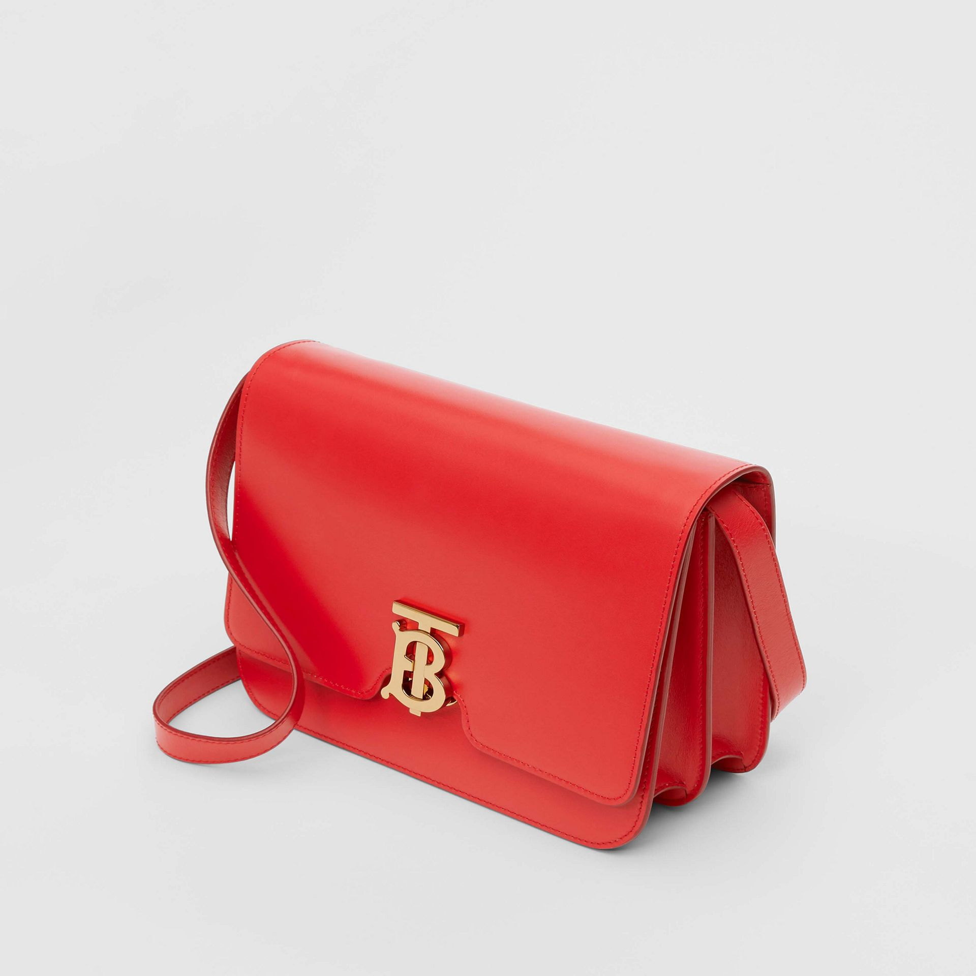 Medium Leather TB Bag in Bright Red - Women | Burberry Australia - gallery image 3