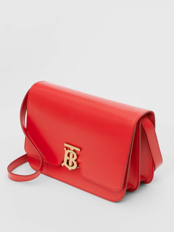 Medium Leather TB Bag in Bright Red - Women | Burberry Australia - cell image 3