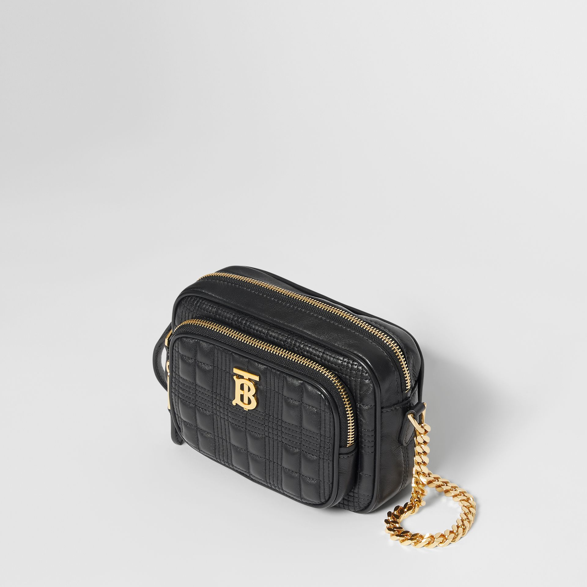 Small Quilted Lambskin Camera Bag in Black - Women | Burberry - gallery image 2