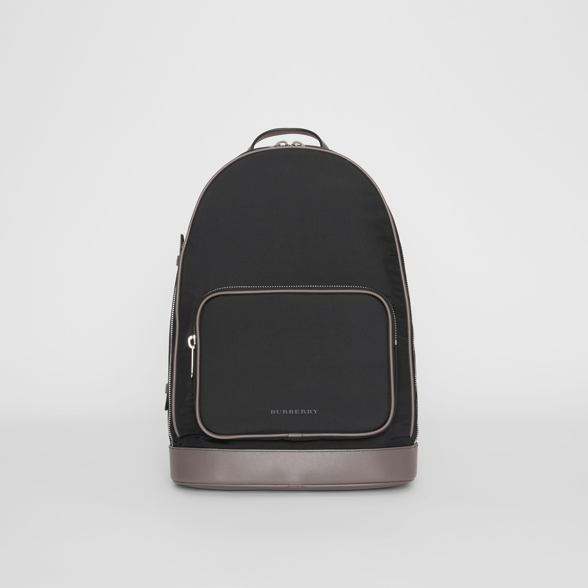 Icon Stripe Detail Nylon Backpack in Black - Men | Burberry - gallery image 0