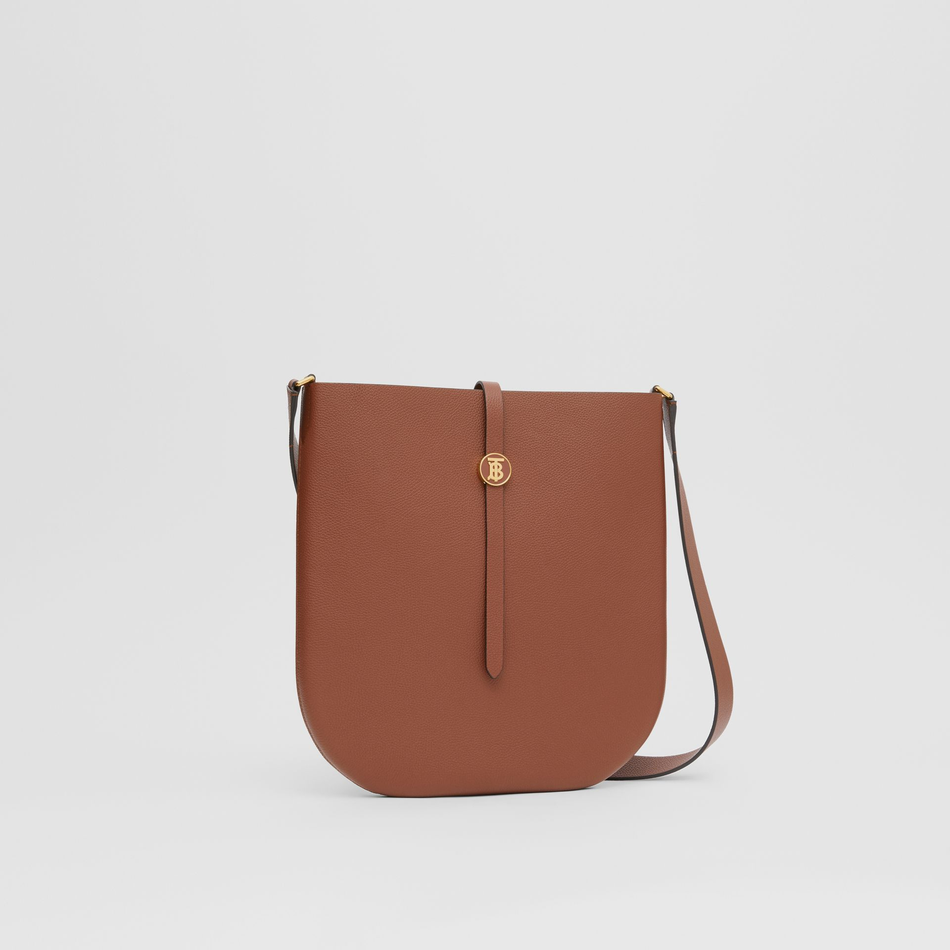Grainy Leather Anne Bag in Tan - Women | Burberry - gallery image 4