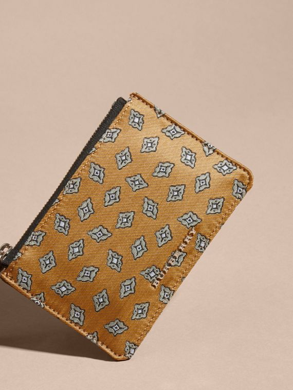Citrus yellow Geometric Tile Jacquard Zip-top Wallet Citrus Yellow - cell image 2