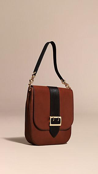 The Buckle Satchel in Smooth Leather
