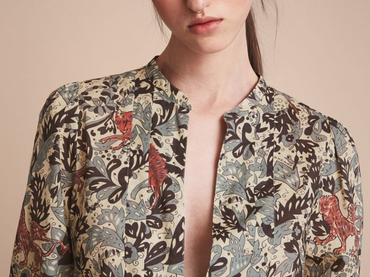 Beasts Print Cotton Tunic Shirt - Women | Burberry Australia - cell image 4
