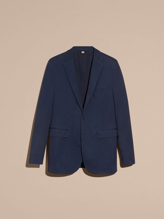 Navy Slim Fit Cotton Tailored Jacket - cell image 3