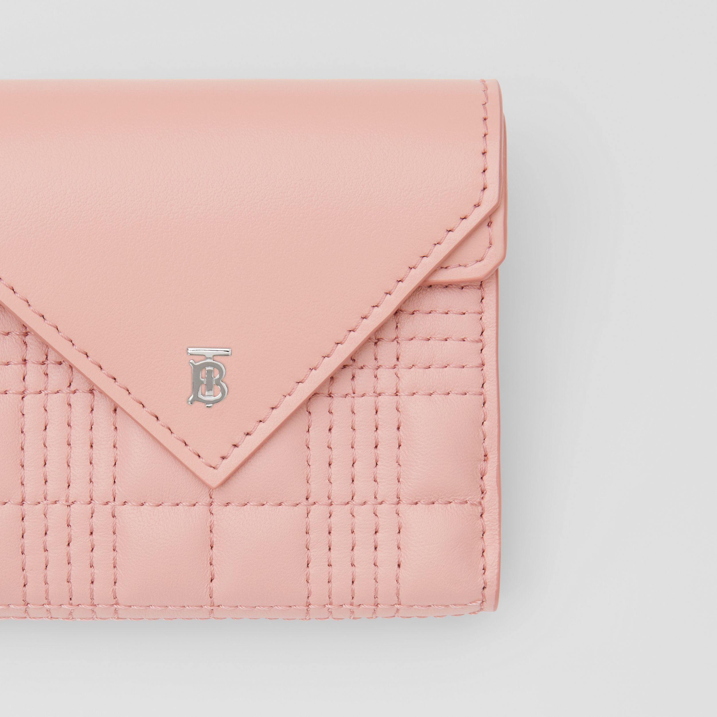 Quilted Lambskin Folding Wallet in Blush Pink - Women | Burberry - 2