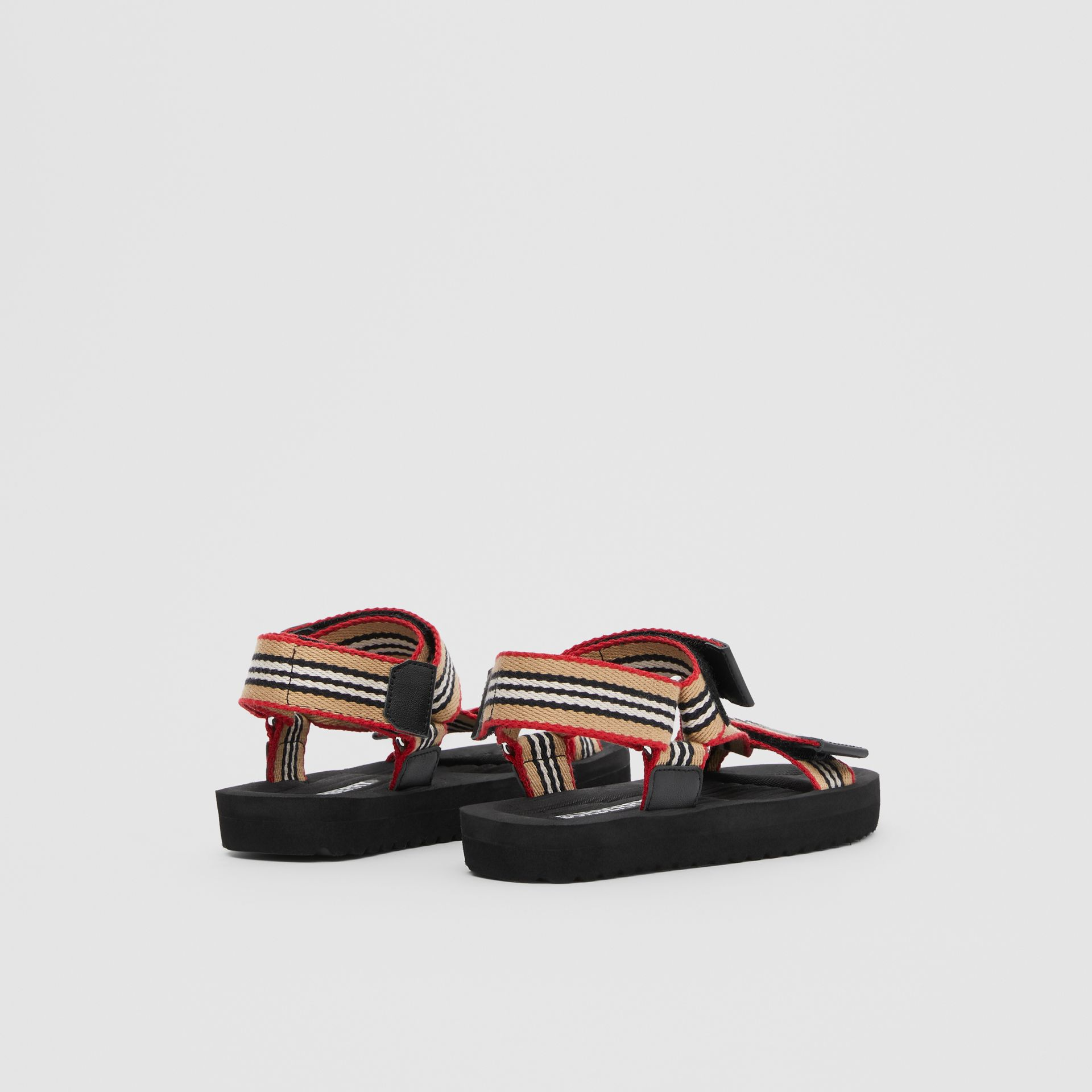Icon Stripe Sandals in Archive Beige - Children | Burberry - gallery image 2