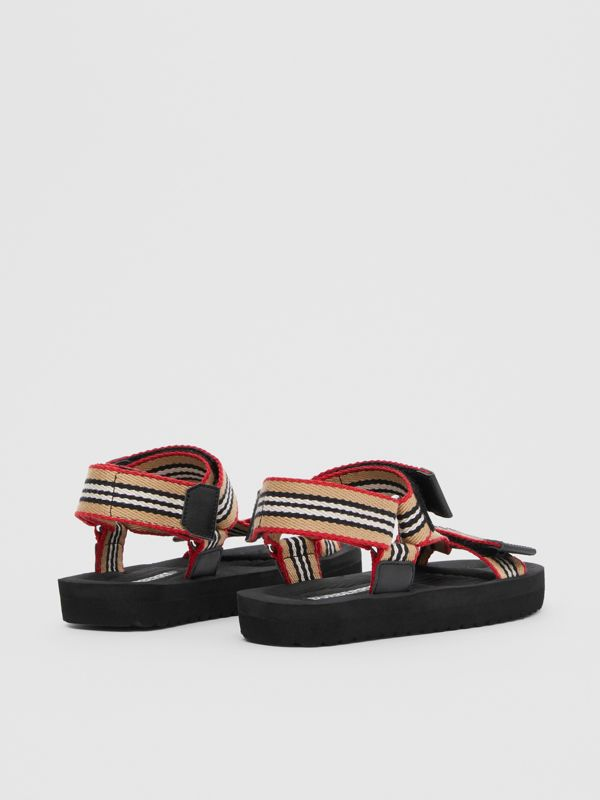 Icon Stripe Sandals in Archive Beige - Children | Burberry Hong Kong S.A.R - cell image 2