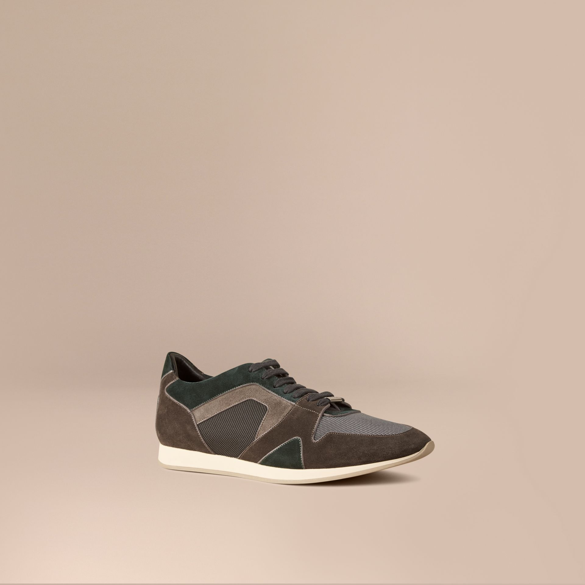 Dark storm grey The Field Sneaker in Colour Block Suede and Mesh Dark Storm Grey - gallery image 1