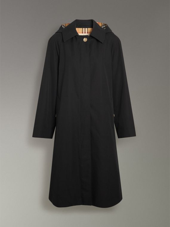 Detachable Hood Tropical Gabardine Car Coat in Black - Women | Burberry - cell image 3