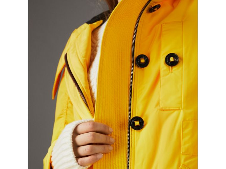 Technical Taffeta Hooded Parka in Bright Yellow - Women | Burberry - cell image 4