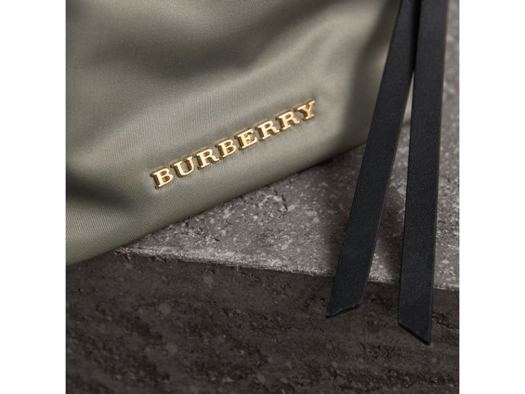 Small Zip-top Technical Nylon Pouch in Thistle Grey - Women | Burberry - cell image 1
