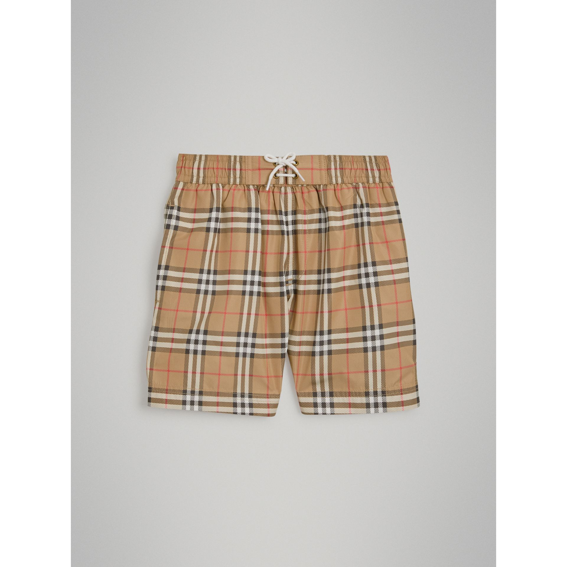 Vintage Check Swim Shorts in Camel - Boy | Burberry Canada - gallery image 2