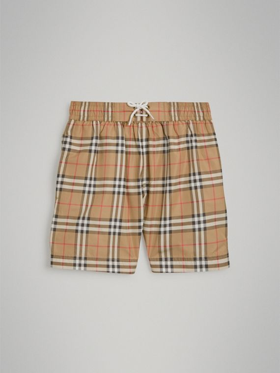Vintage Check Swim Shorts in Camel - Boy | Burberry Canada - cell image 2