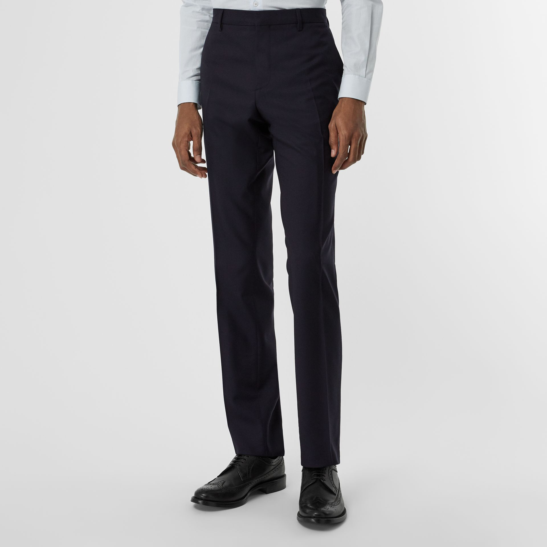 Modern Fit Wool Suit in Navy - Men | Burberry United Kingdom - gallery image 5