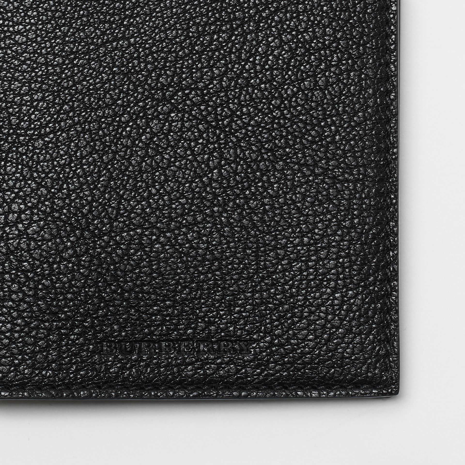 Leather Passport Holder in Black | Burberry - gallery image 1