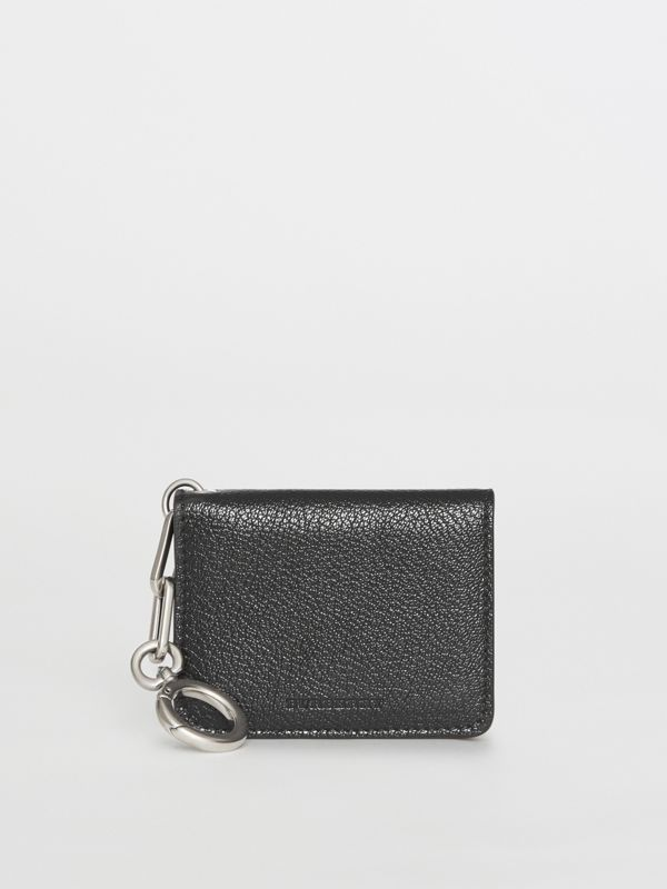 Link Detail Leather ID Card Case Charm in Black | Burberry United Kingdom - cell image 3