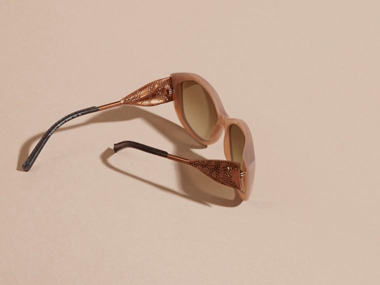Opal melange Óculos de sol com armação quadrada da coleção Gabardine Lace Opal Melange - cell image 4