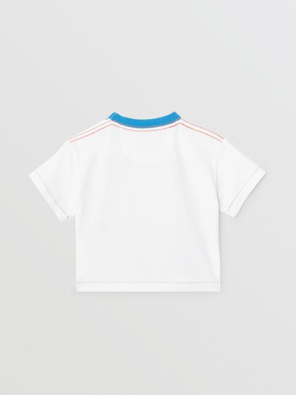 Comic Strip Print Cotton T-shirt in Natural White - Children | Burberry United Kingdom - cell image 3