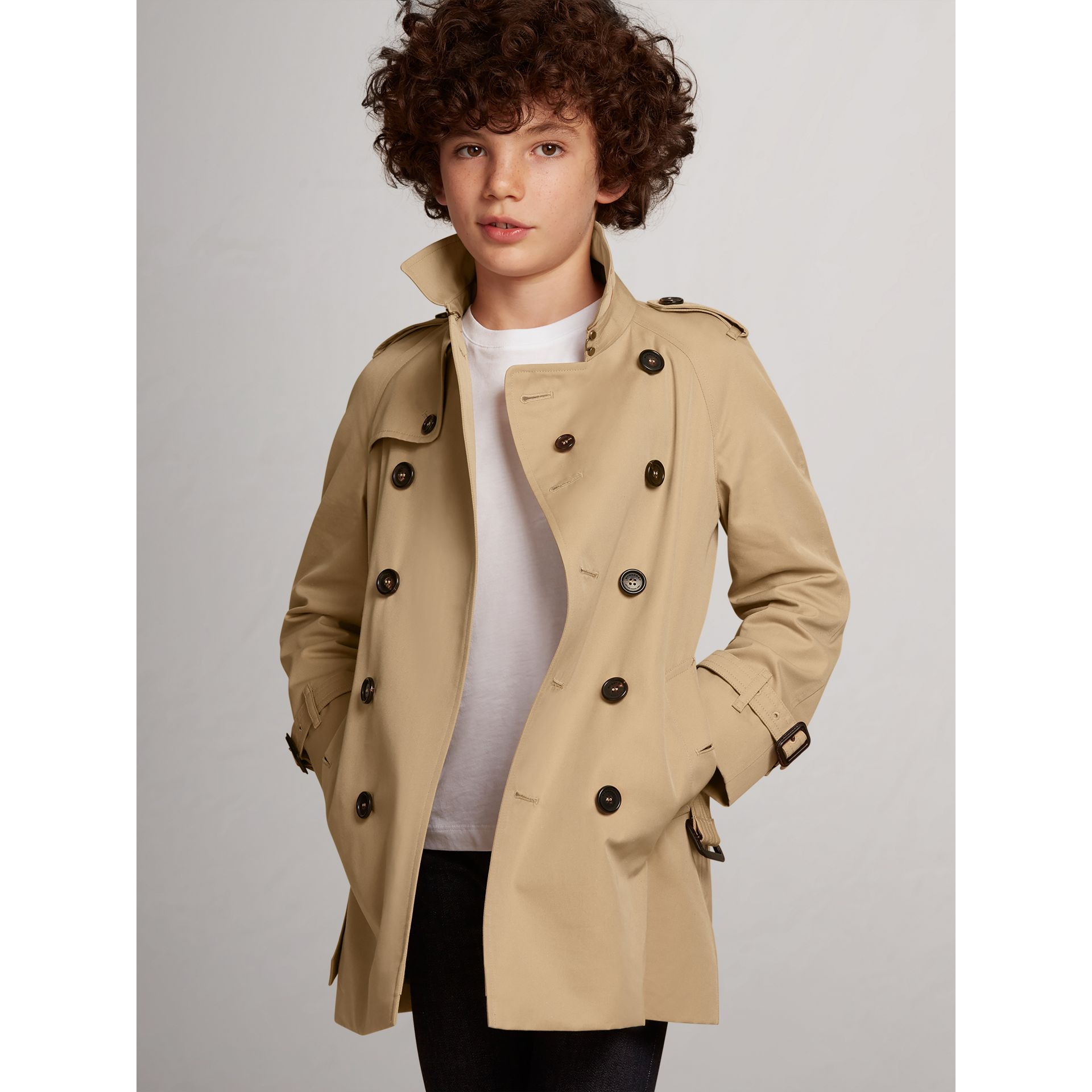 Trench The Wiltshire (Miel) - Garçon | Burberry - photo de la galerie 2