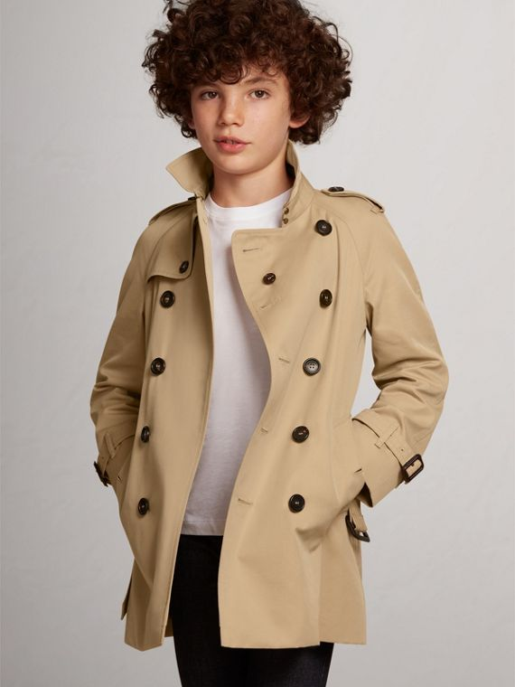 The Wiltshire Trench Coat in Honey - Boy | Burberry - cell image 2