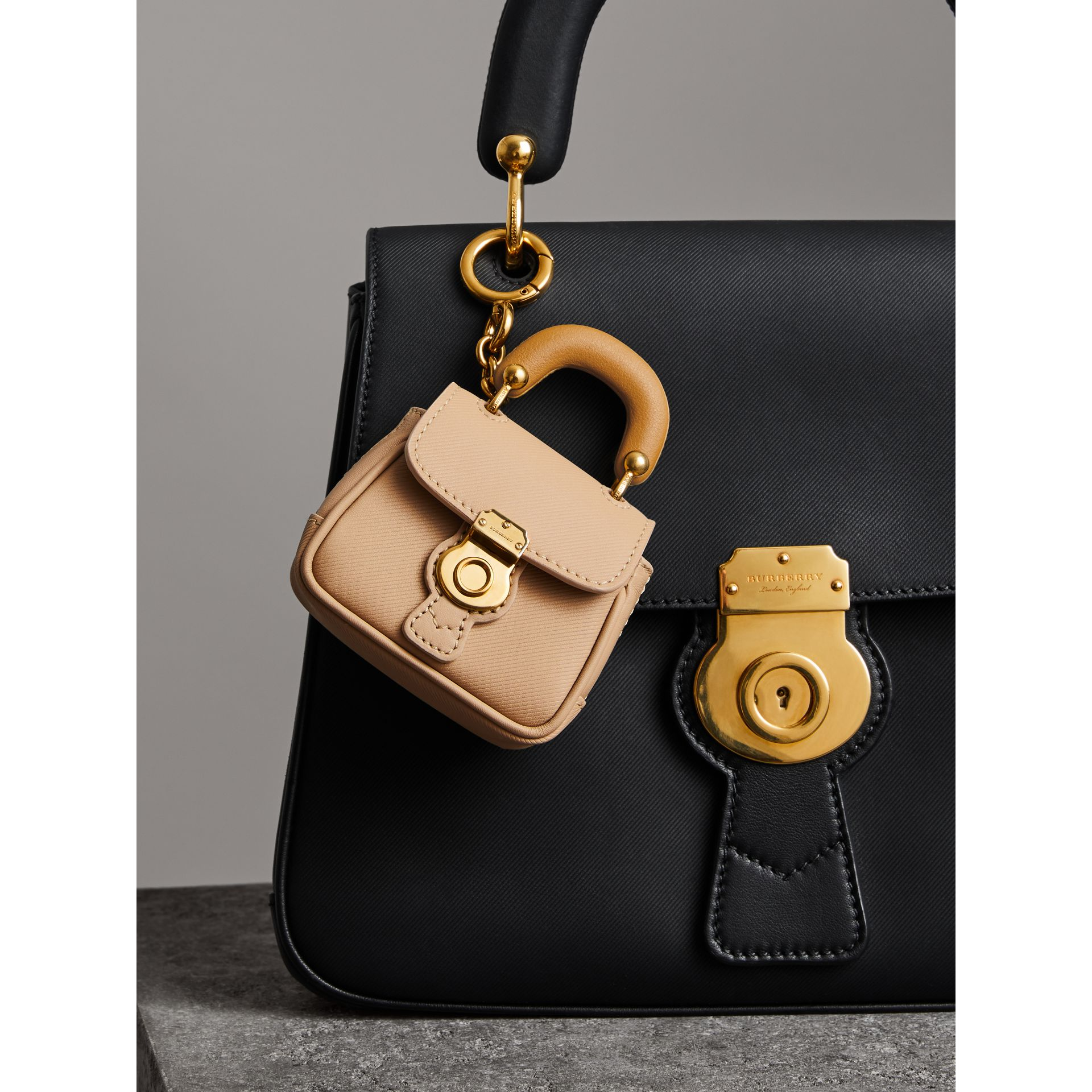 The DK88 Charm in Honey/ochre Yellow | Burberry - gallery image 2