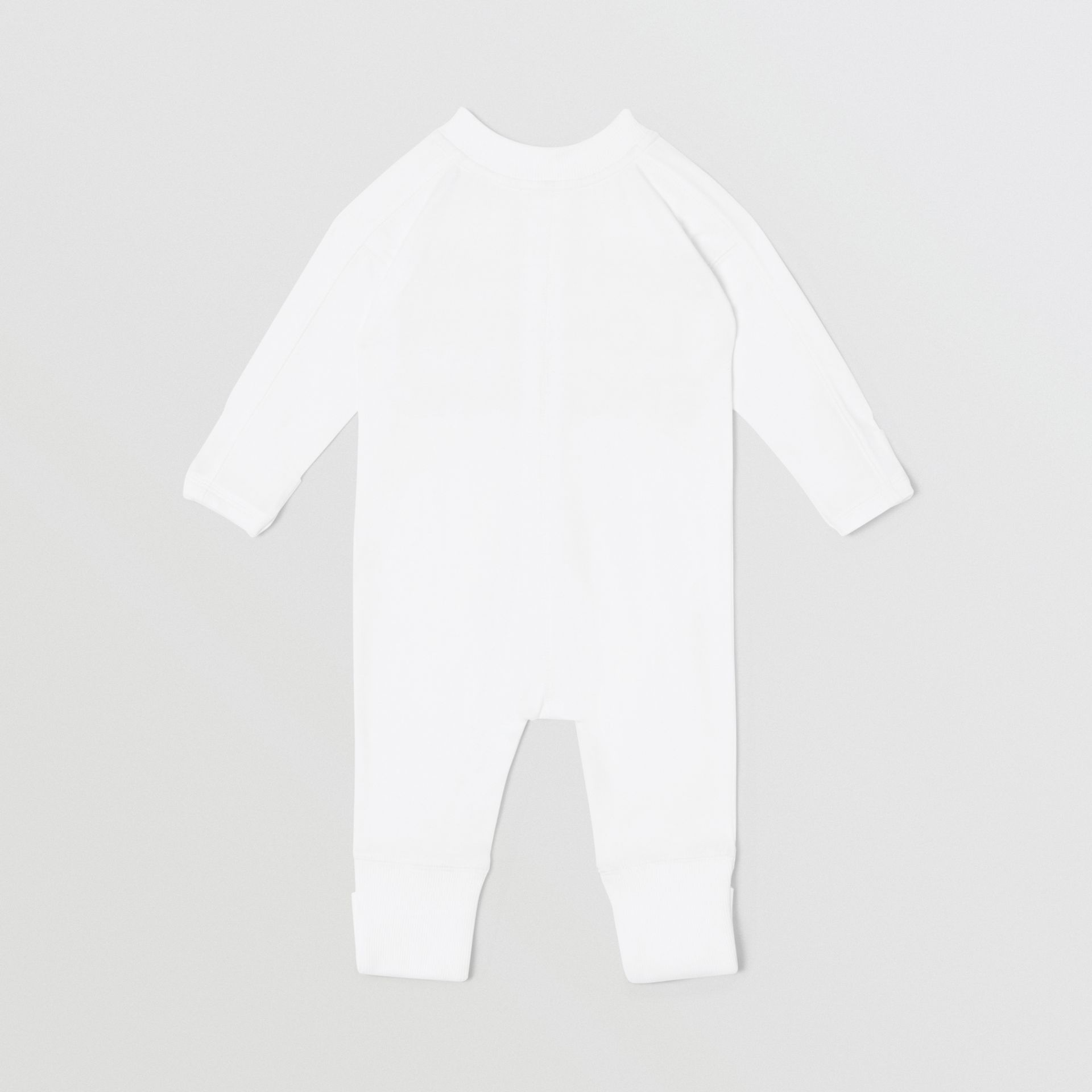 Set regalo da due pezzi in cotone biologico per neonato con stampa del logo (Bianco) - Bambini | Burberry - immagine della galleria 4