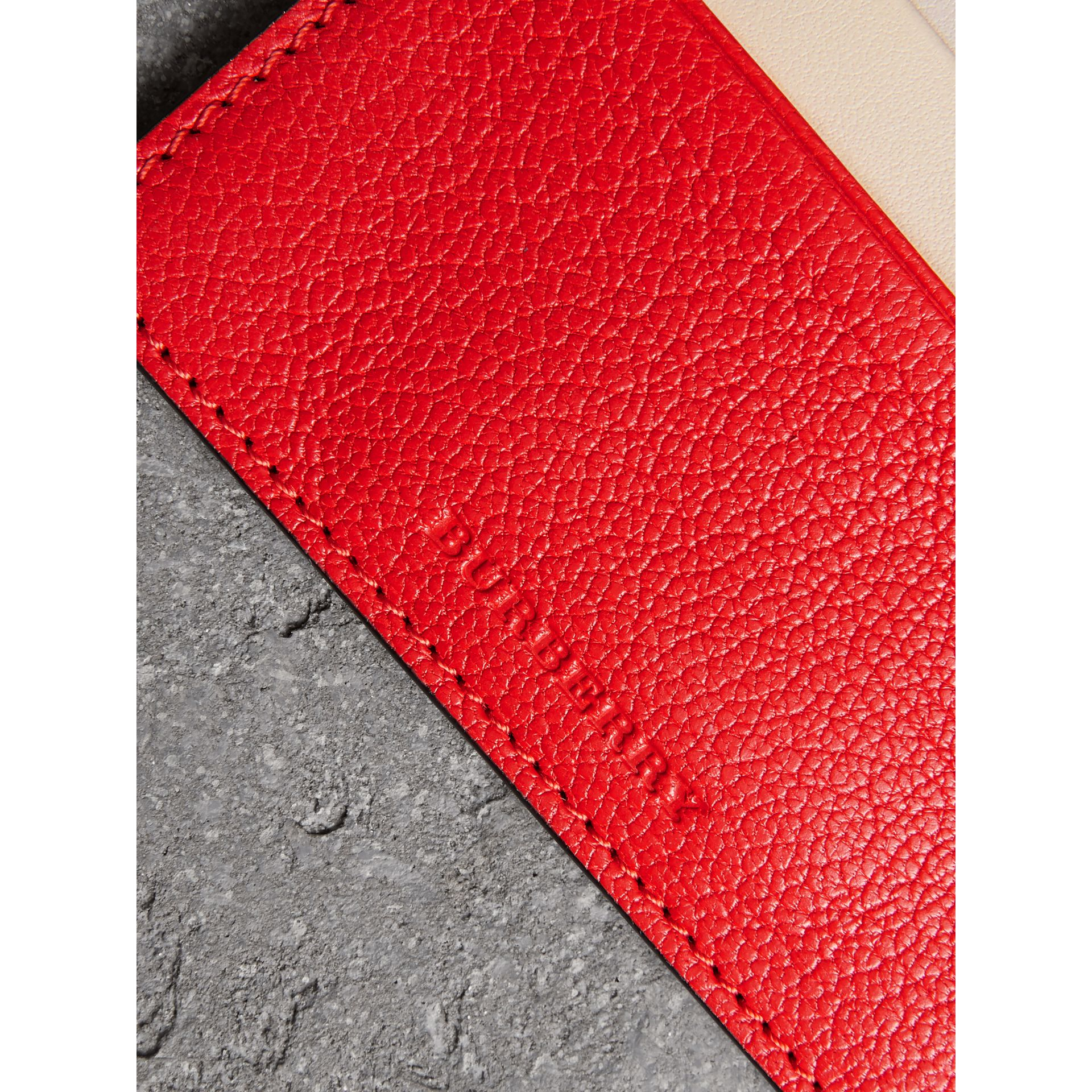 Two-tone Leather Card Case in Bright Red | Burberry - gallery image 1