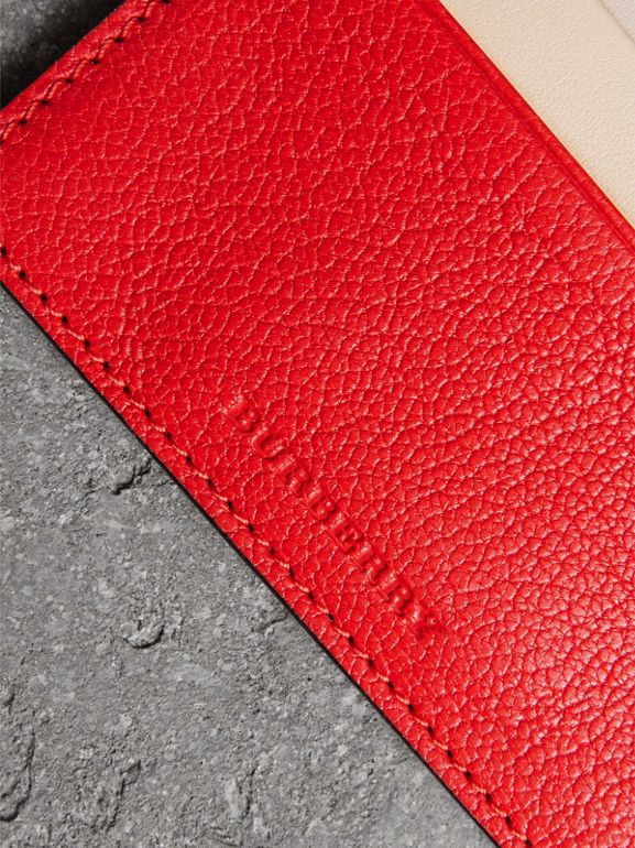 Two-tone Leather Card Case in Bright Red | Burberry - cell image 1