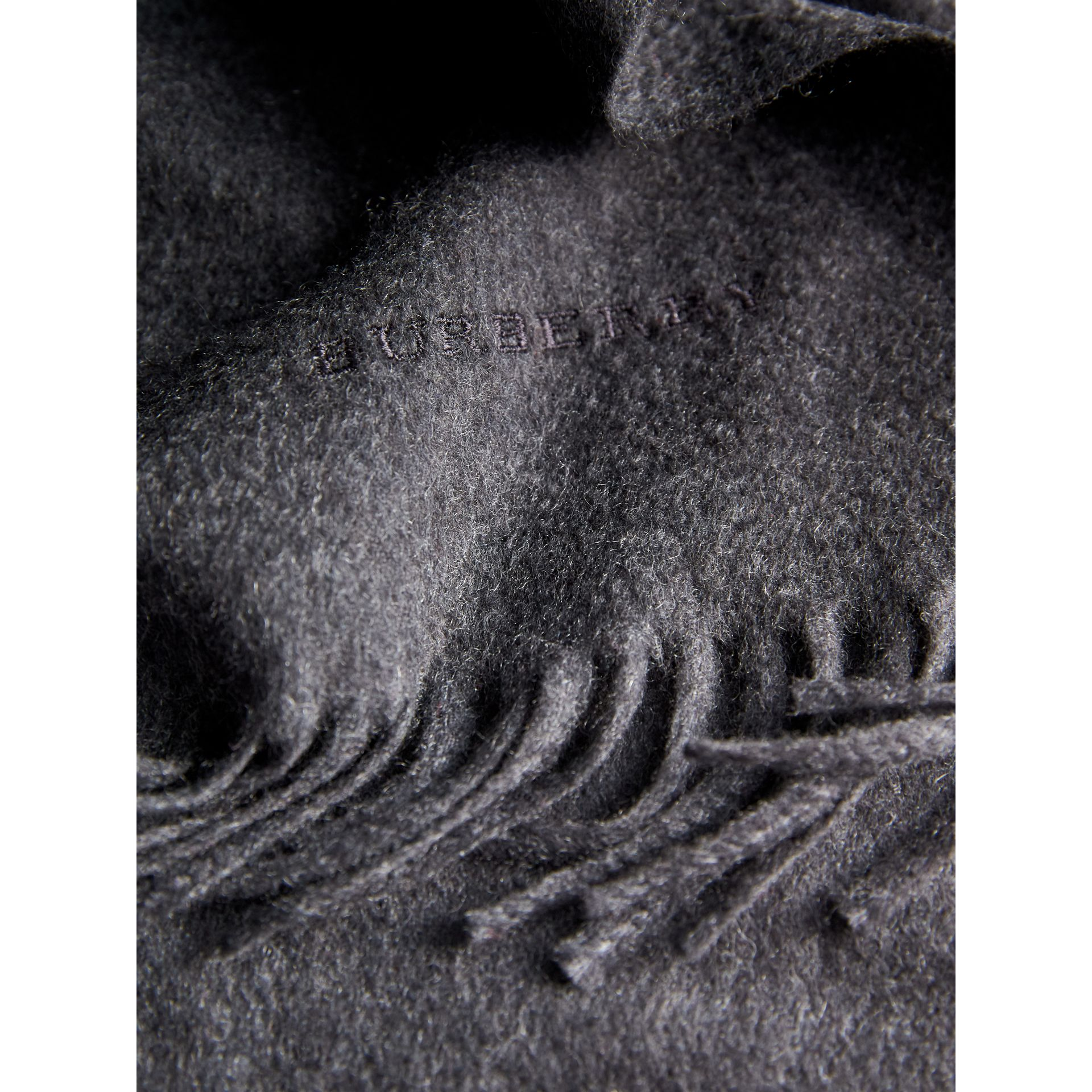 The Classic Cashmere Scarf in Charcoal | Burberry United Kingdom - gallery image 5
