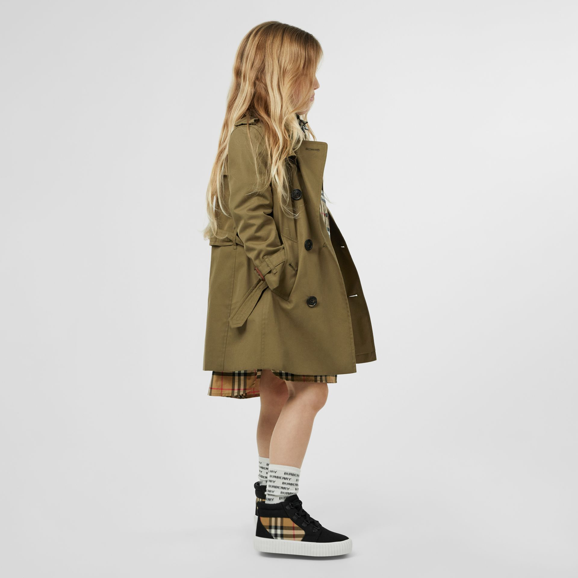 Cotton Gabardine Trench Coat in Military Olive | Burberry - gallery image 2