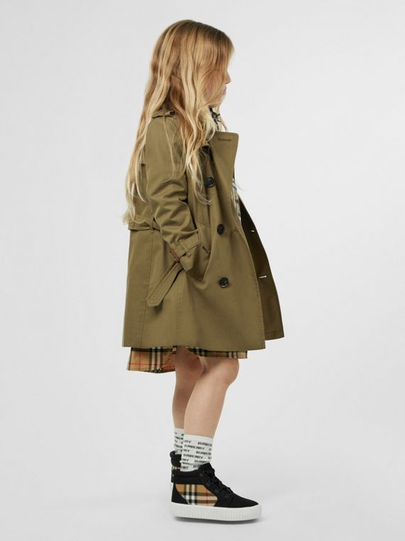 41a3b2bd1 Cotton Gabardine Trench Coat in Military Olive