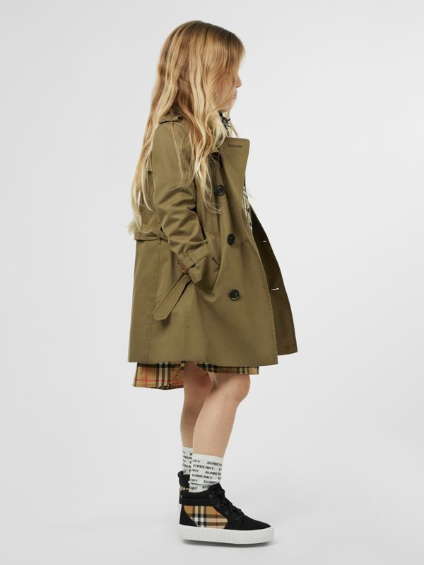 Cotton Gabardine Trench Coat in Military Olive | Burberry - cell image 2