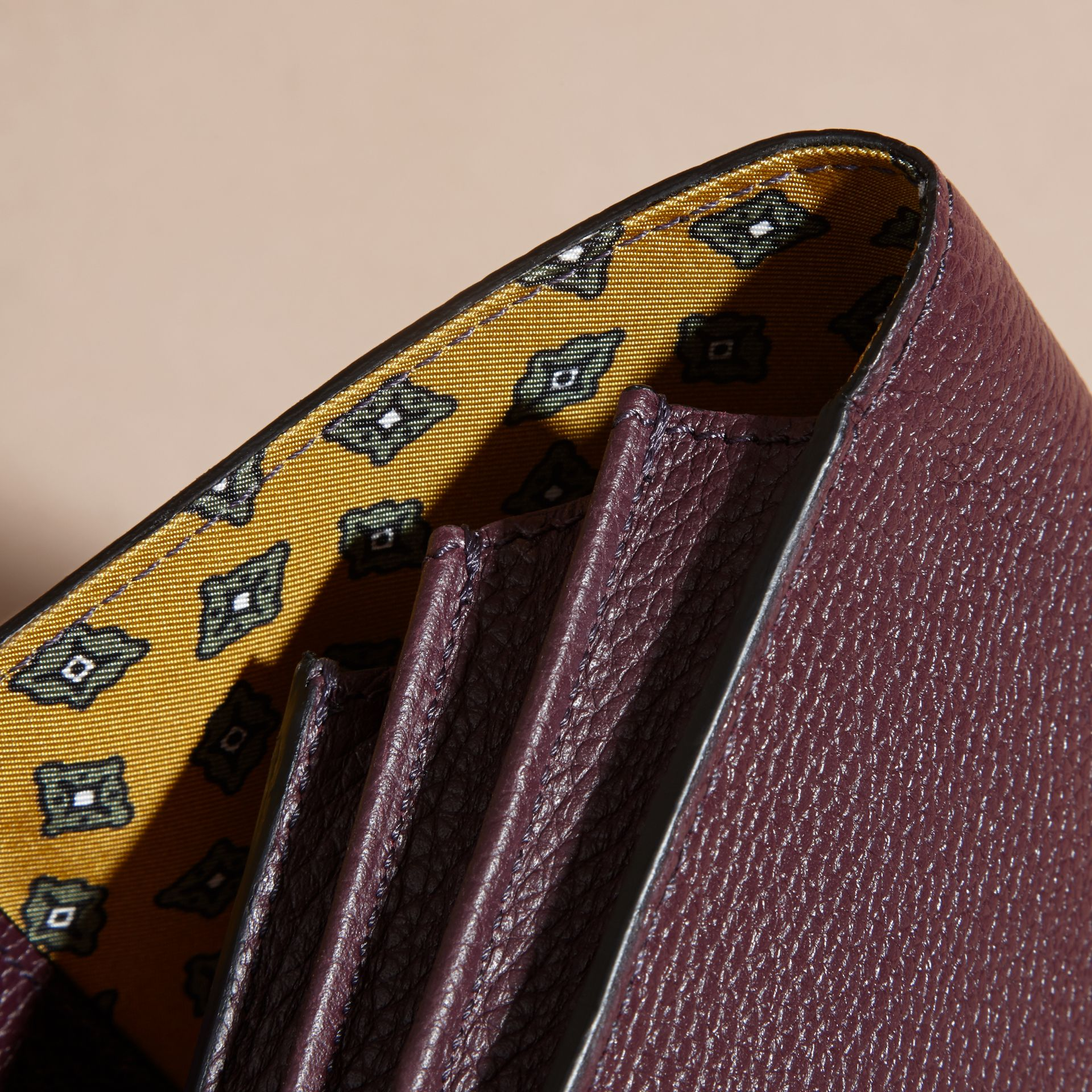 Dark amethyst Grainy Leather Travel Wallet Dark Amethyst - gallery image 6