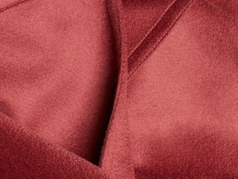 Rosa peonia polvere Trench coat a scialle in cashmere Rosa Peonia Polvere - cell image 1