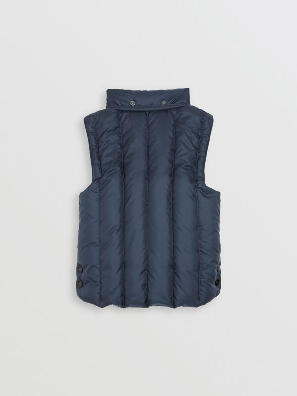 Detachable Hood Down-filled Gilet in Navy | Burberry - cell image 3