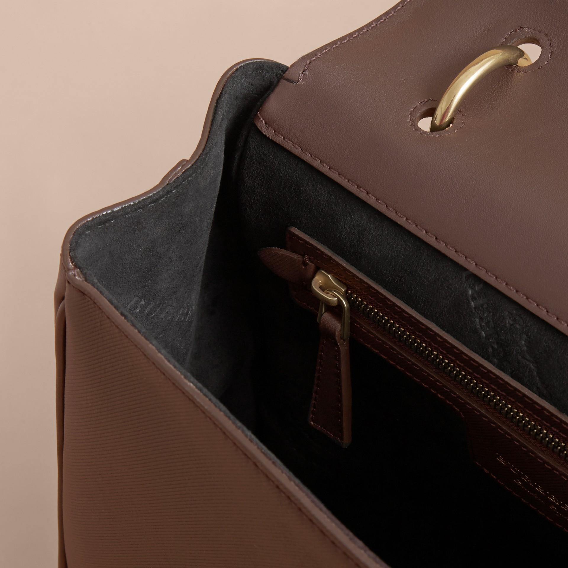 The Medium DK88 Top Handle Bag Dark Chocolate - gallery image 6
