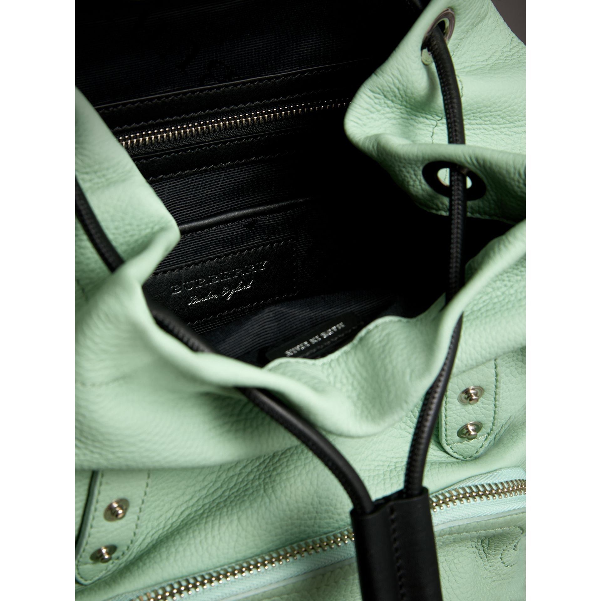 The Medium Rucksack in Deerskin with Resin Chain in Spearmint - Women | Burberry United States - gallery image 4