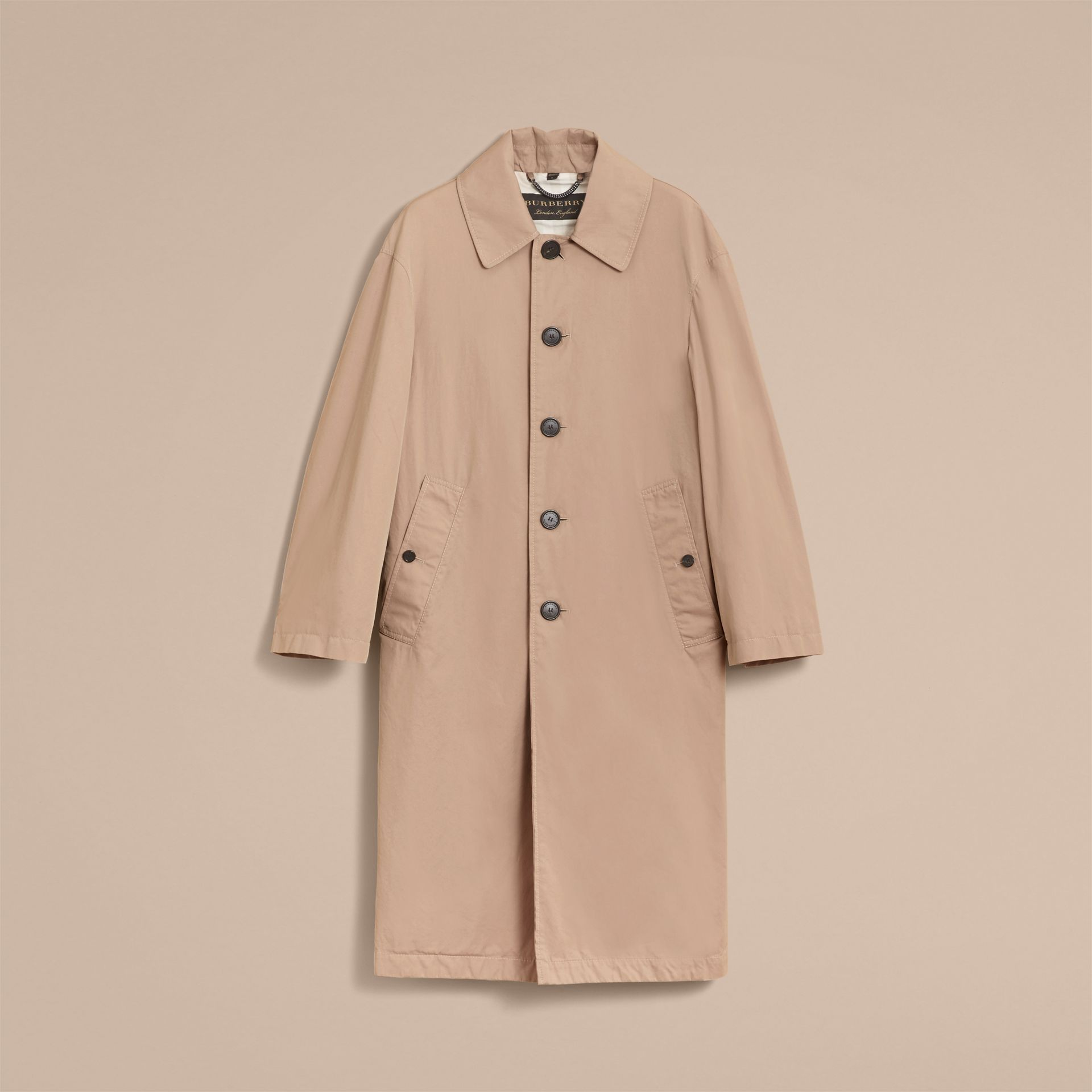 Unisex Tropical Gabardine Car Coat in Antique Taupe Pink - Men | Burberry - gallery image 4