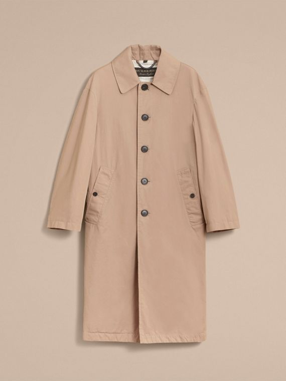 Unisex Tropical Gabardine Car Coat in Antique Taupe Pink - Men | Burberry - cell image 3